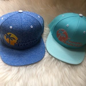 Accessories - Encore Beach Club flat bill adjustable hats